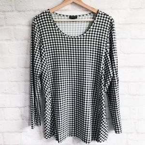 J. Jill Wearever Collection Gingham Check Tunic
